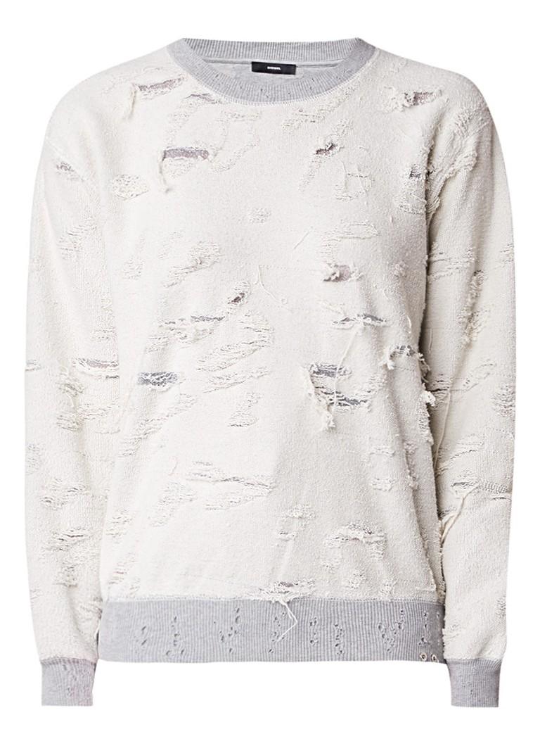 Diesel Destroyed sweater met lurex