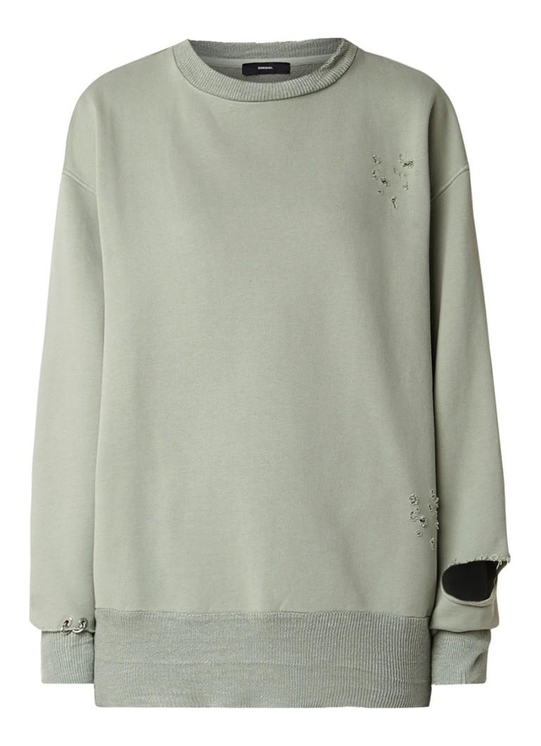 Diesel Lilo oversized sweater met destroyed details