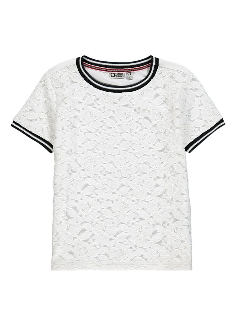 Tumble 'n Dry Aleah T-shirt met kant en lurex