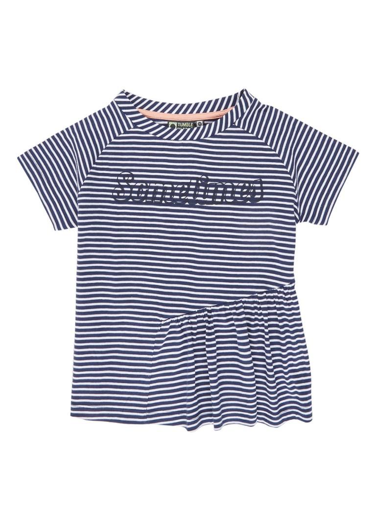 Tumble 'n Dry Allie T-shirt met streepdessin en tekstopdruk