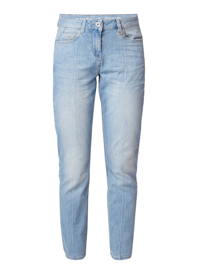 Sandwich High rise skinny fit jeans met lichte wassing