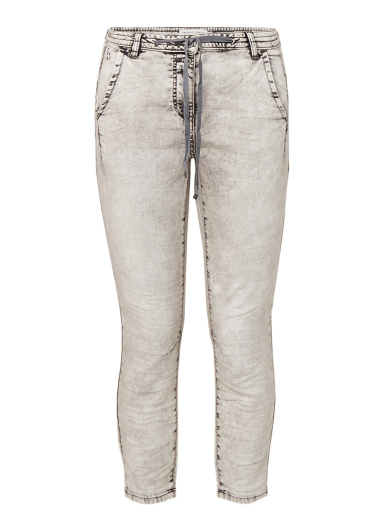 Sandwich Jogg jeans met gebleekt effect