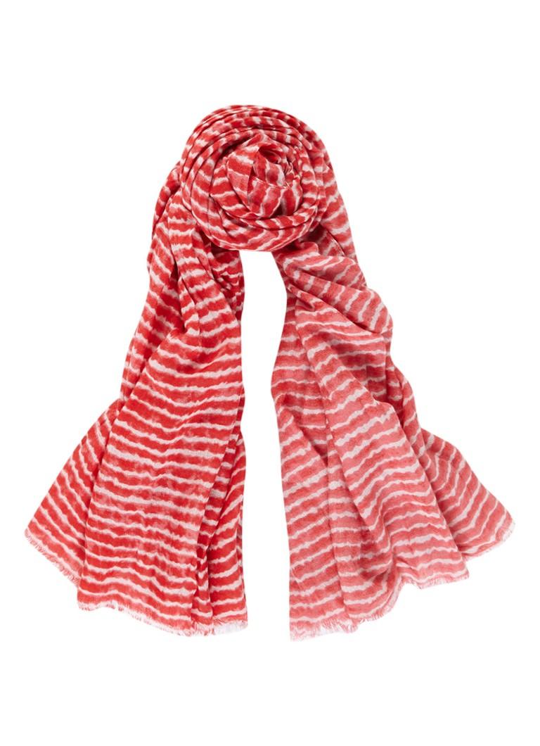 Sandwich Sjaal in wolblend met streepdessin 190 x 90 cm