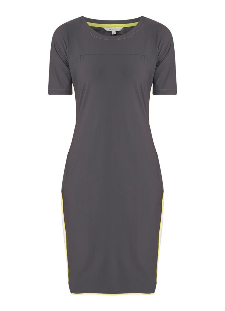 Sandwich Losvallende midi-jurk met steekzakken donkergrijs