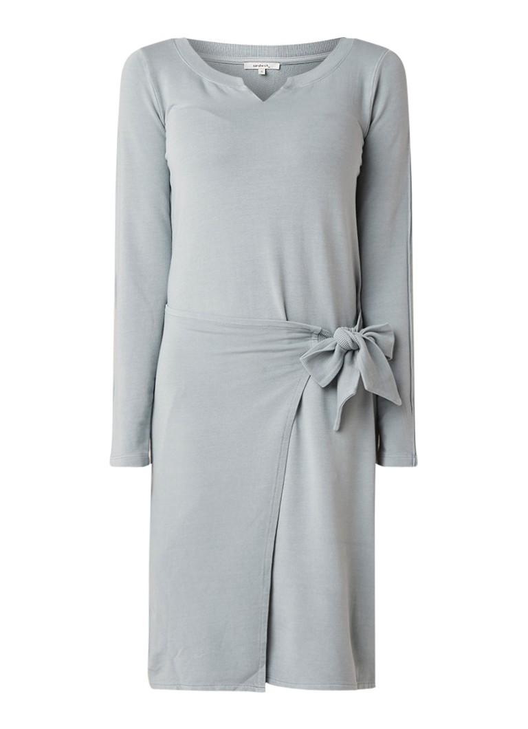 Sandwich Midi-jurk van jersey met overslag blauwgrijs
