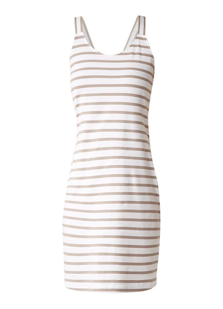 Sandwich Mouwloze gestreepte jurk