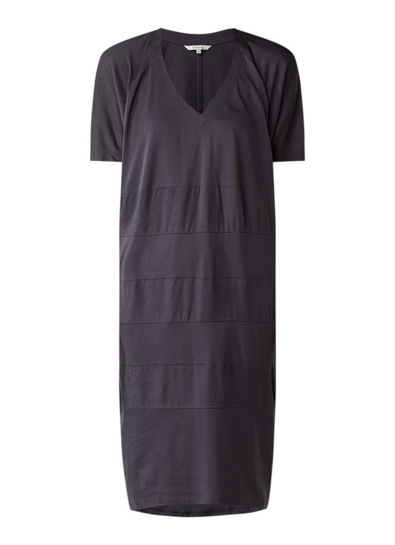 Sandwich Jersey jurk met ingeweven structuur antraciet