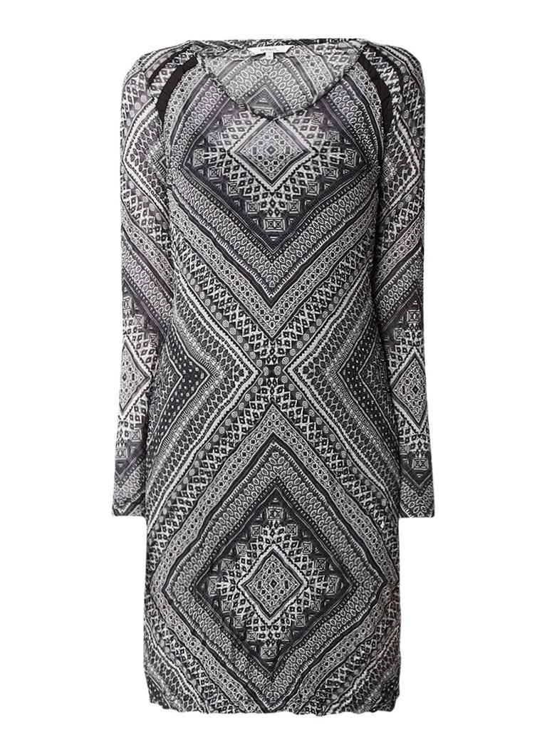 Sandwich Semi-transparante midi-jurk met dessin grijs