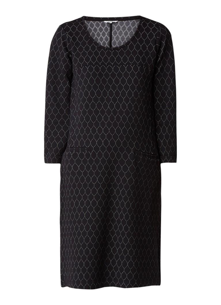 Sandwich Midi-jurk met dessin zwart