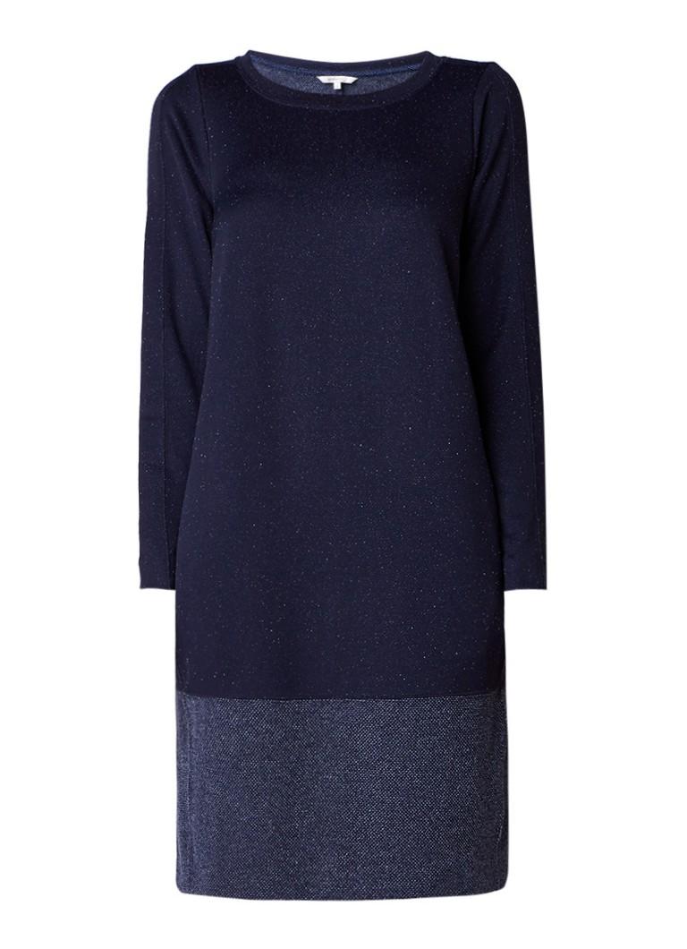 Sandwich Gemêleerde sweaterjurk met steekzakken donkerblauw