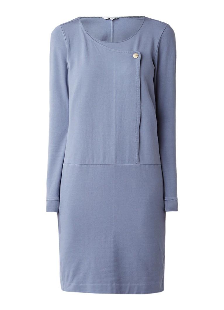 Sandwich Jersey jurk met overslag grijs