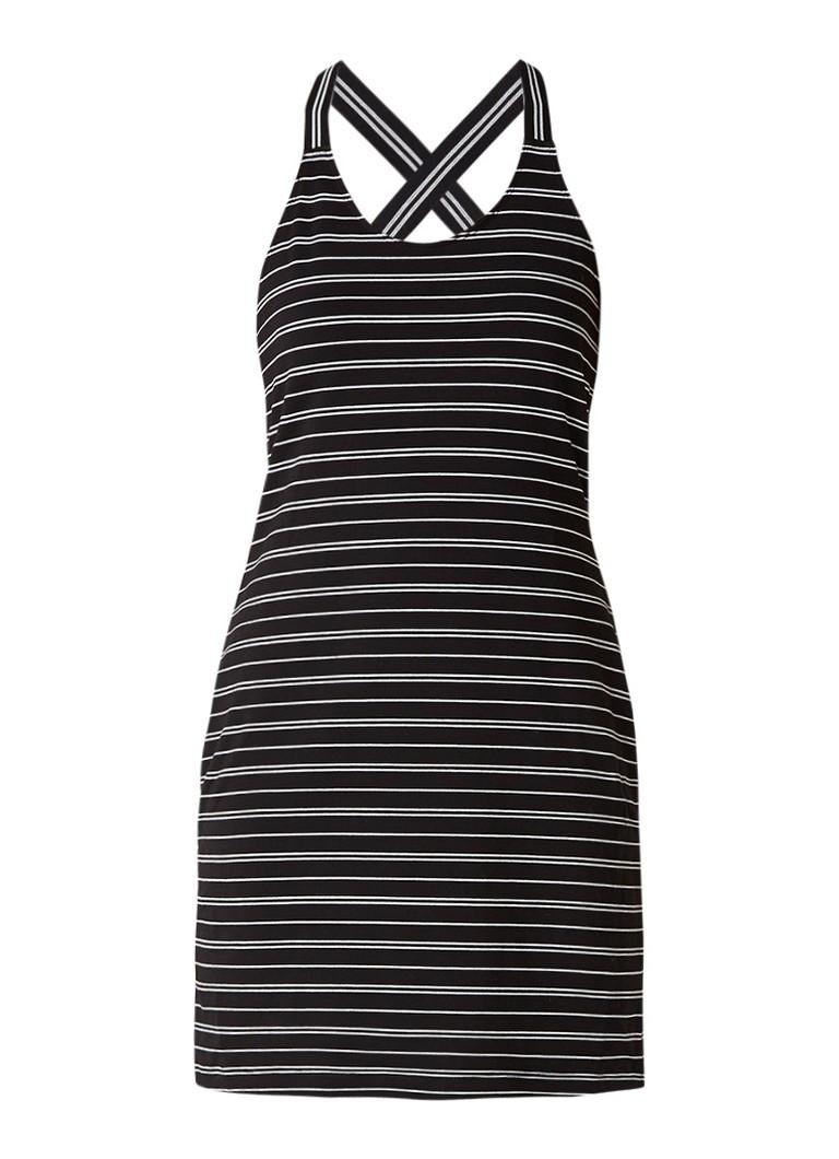 Sandwich Mini-jurk van jersey met streepdessin zwart