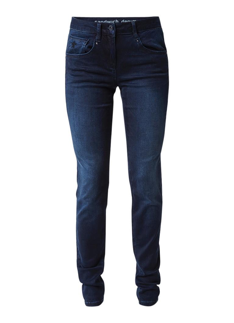 Sandwich Skinny slim fit jeans met faded look