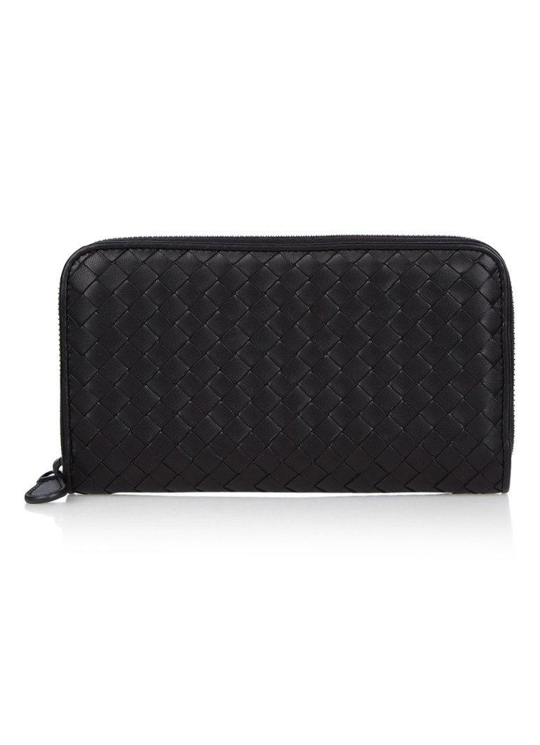 Bottega Veneta Zip Around Intrecciato portemonnee van nappa leer