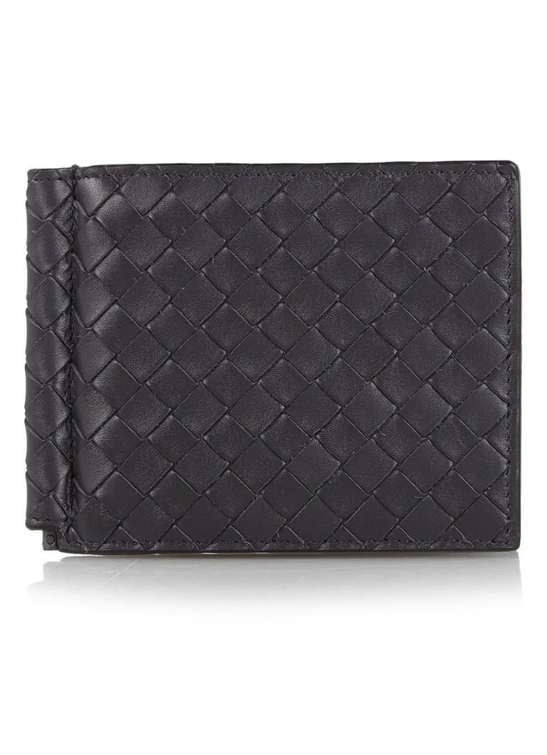 Bottega Veneta Bi-Fold intrecciato creditcardetui van kalfsleer