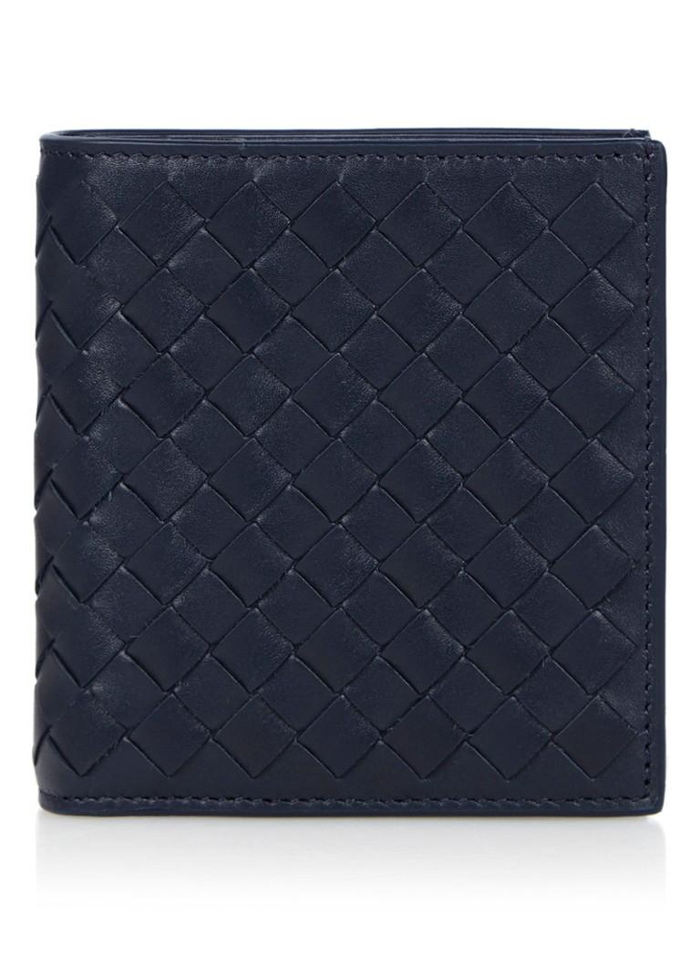 Bottega Veneta Bi-Fold Intrecciato portemonnee van kalfsleer