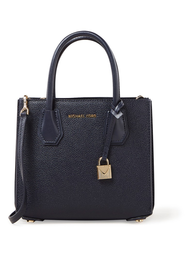 Michael Kors Mercer Medium handtas van leer