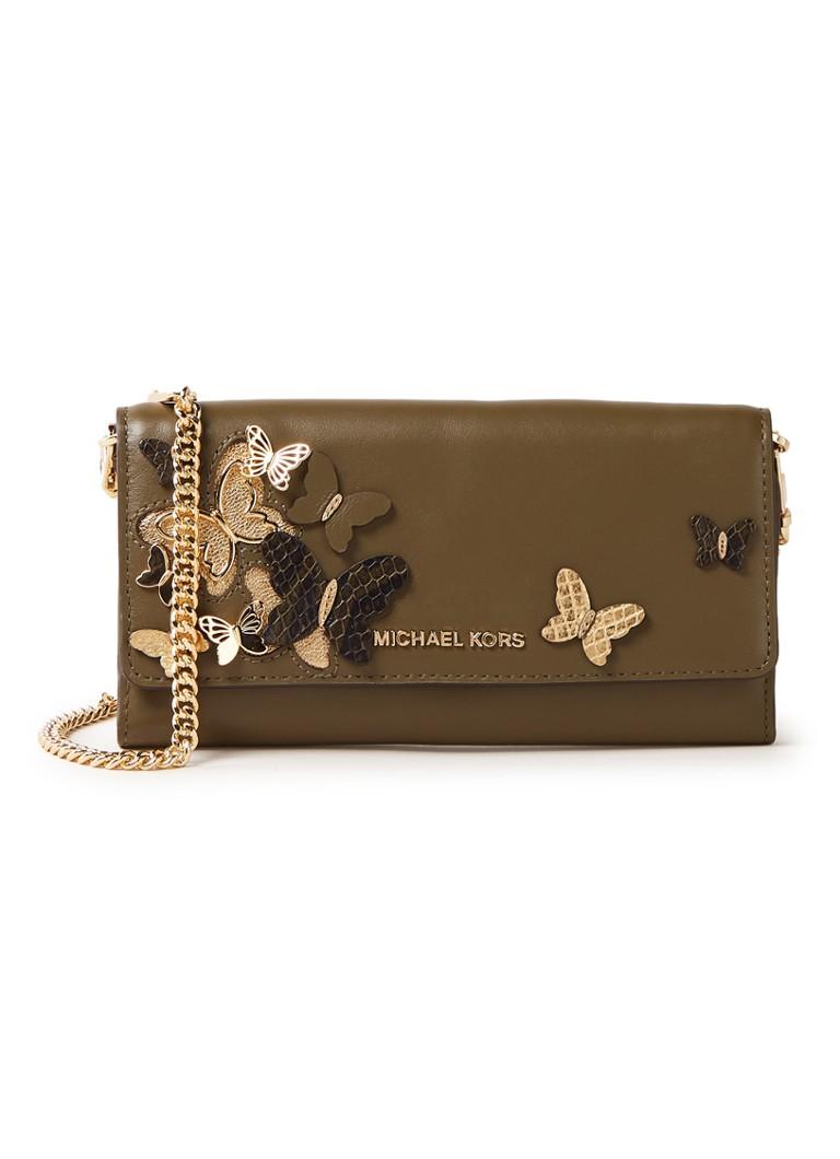 Michael Kors Butterfly Large portemonnee van leer