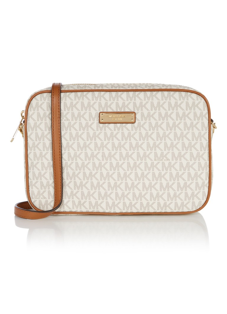 Michael Kors Jet Set crossbodytas beige