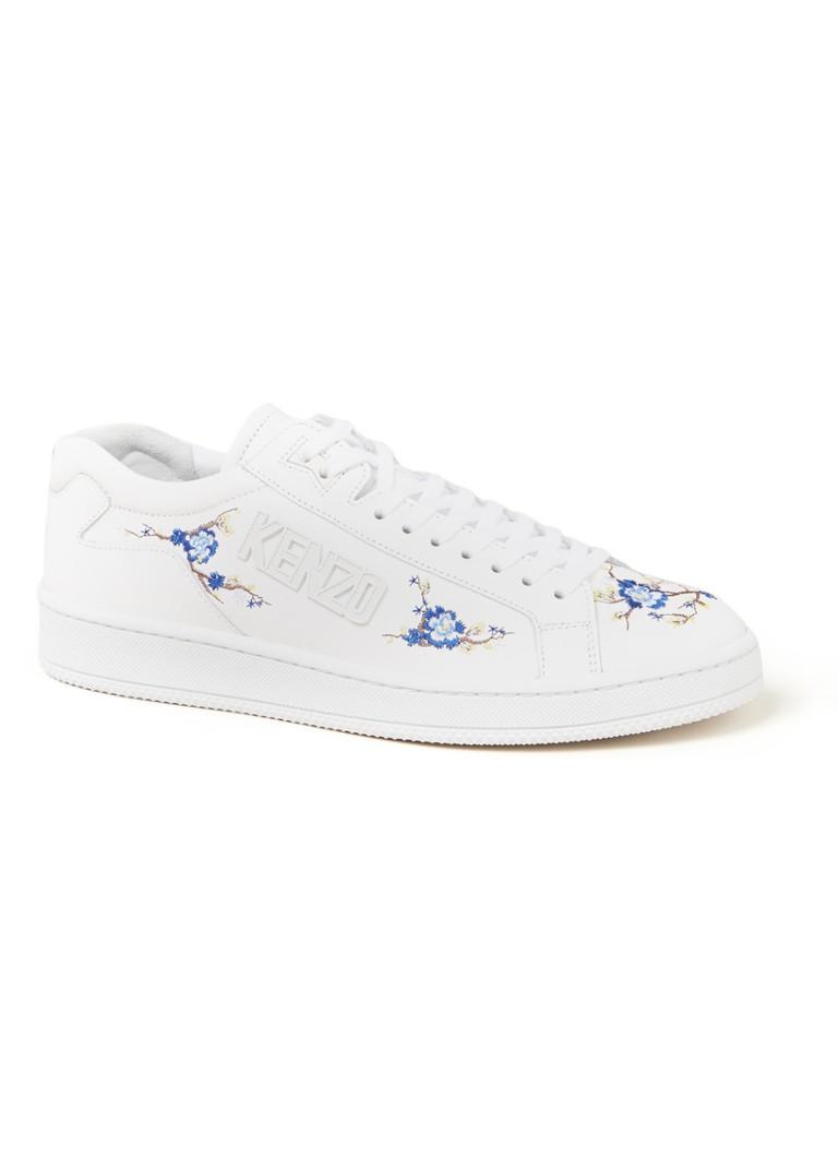 KENZO Cheongsam Flower Tennix sneaker van leer