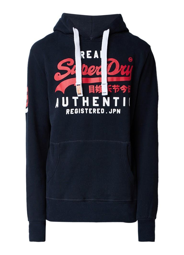 Superdry Authentic hoodie met logoprint