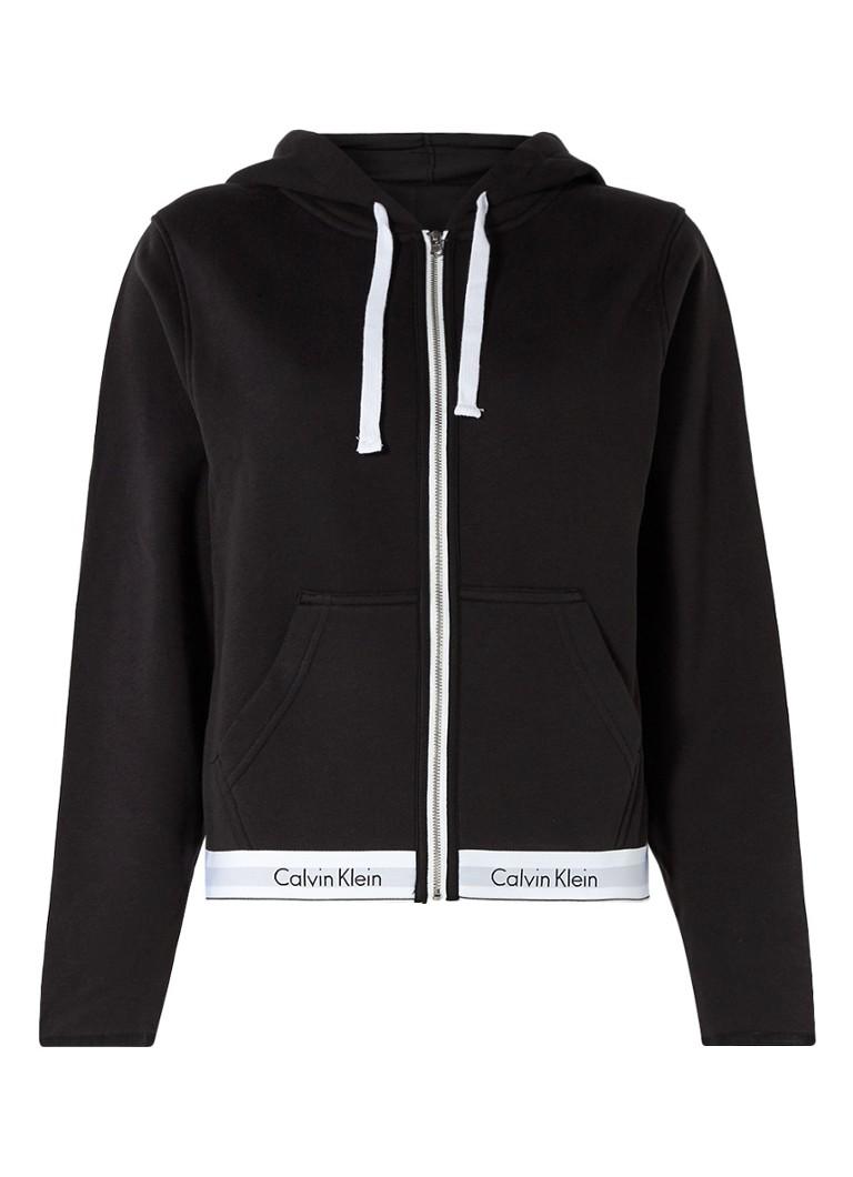 Calvin Klein Sweatvest met capuchon en logoband