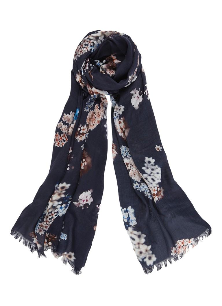 Phase Eight Caroline sjaal met bloemendessin 180 x 90 cm wit