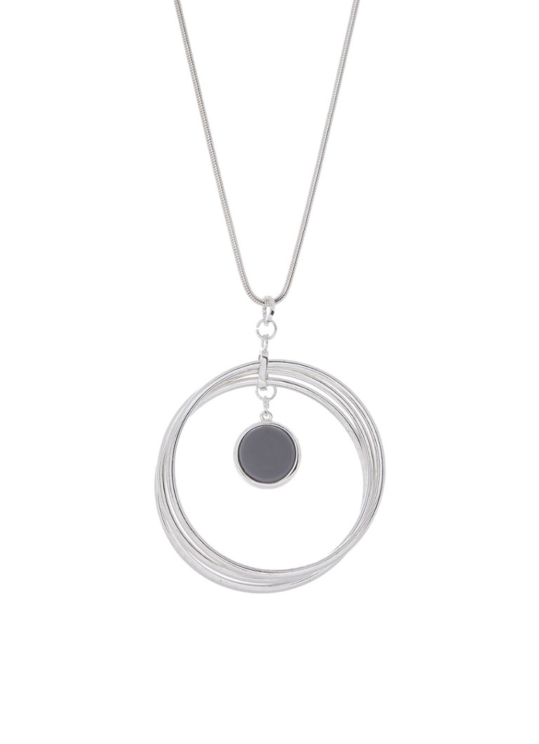 Phase Eight Ketting Violet Rings Pendant wit