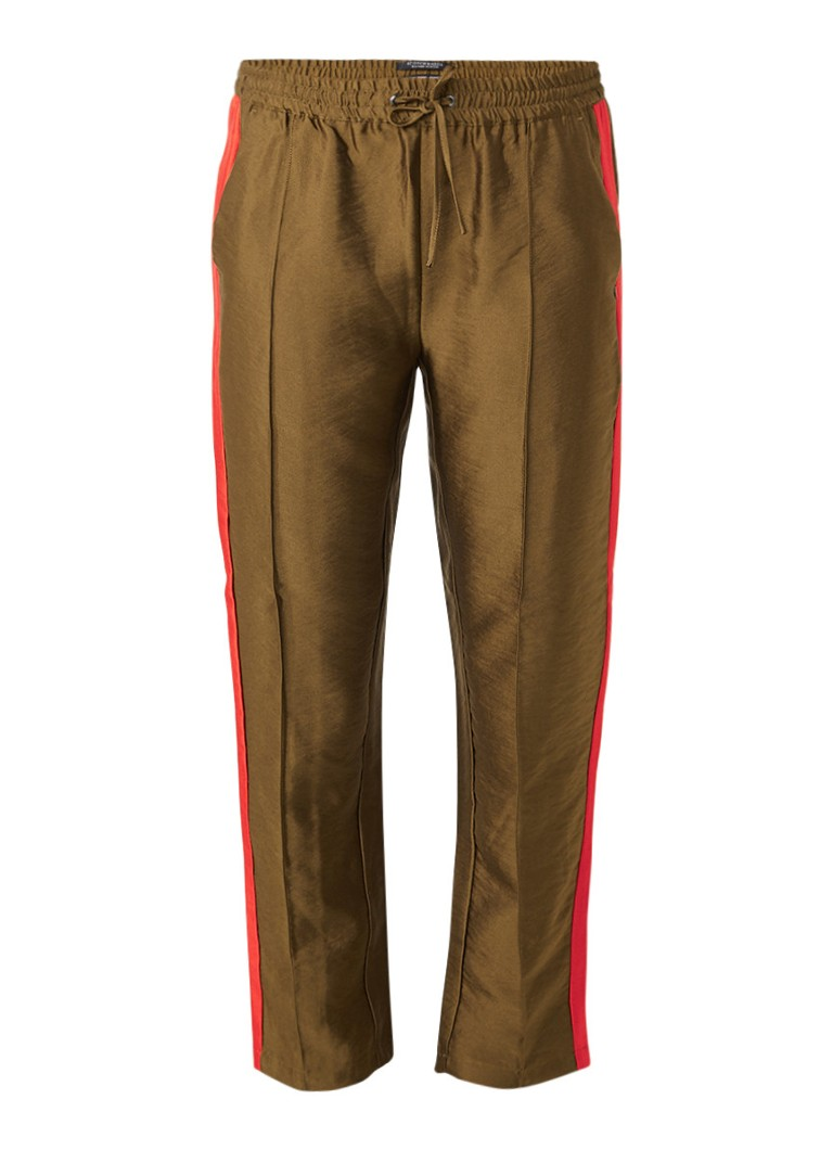 Scotch and Soda Cropped track pants met persplooi