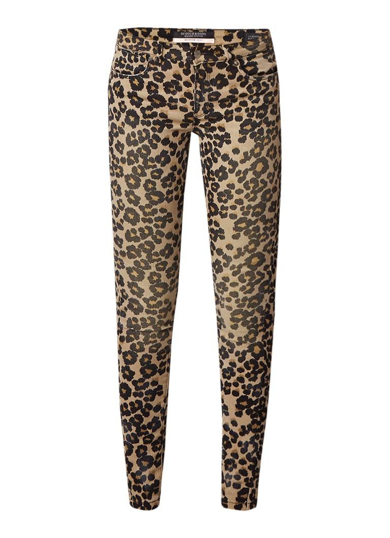 Scotch and Soda La Bohemienne mid rise skinny jeans met luipaarddessin