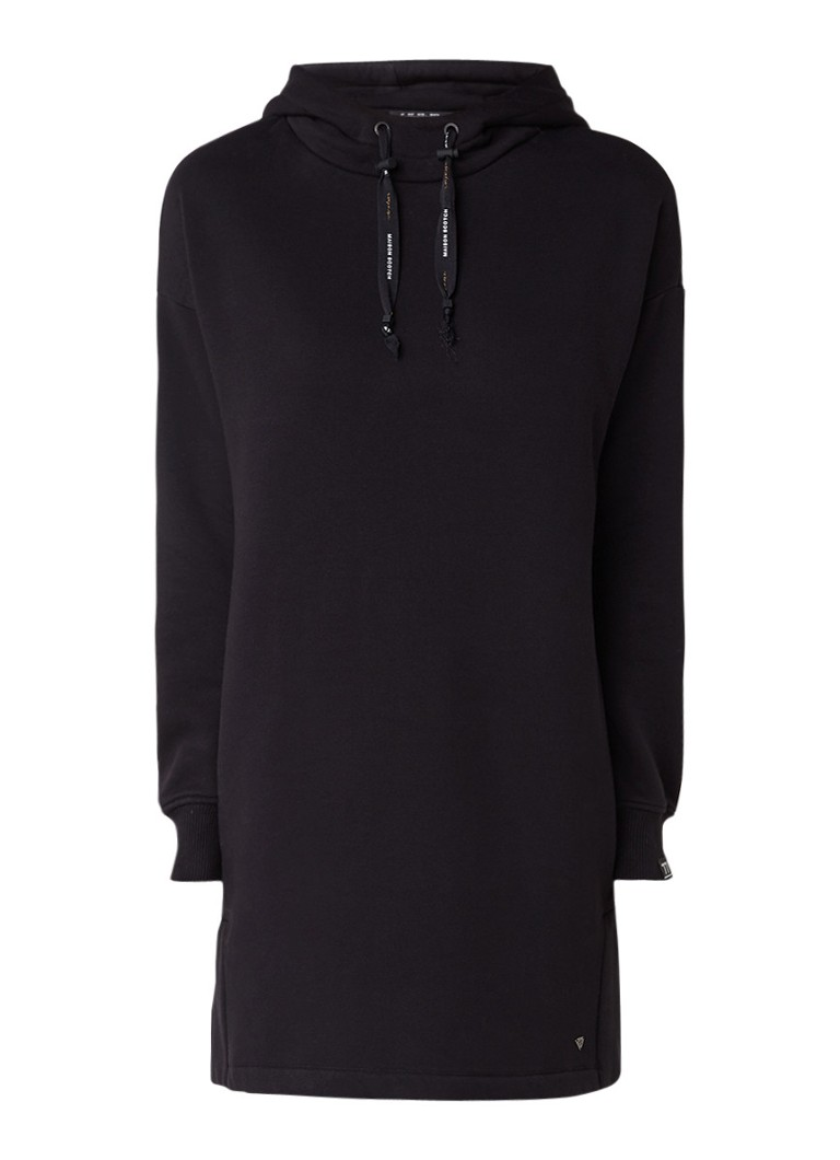 Scotch & Soda Oversized sweaterjurk met capuchon zwart