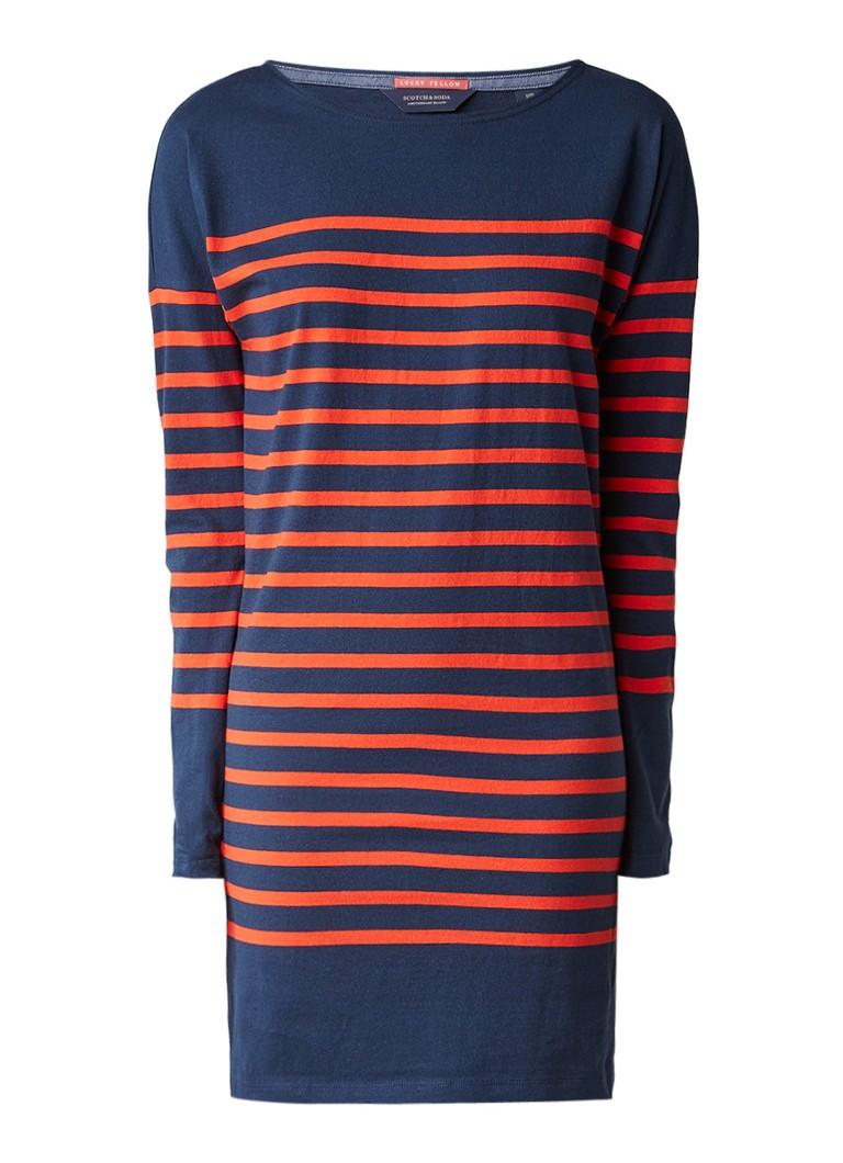 Scotch & Soda Loose fit jurk met streepdessin donkerblauw