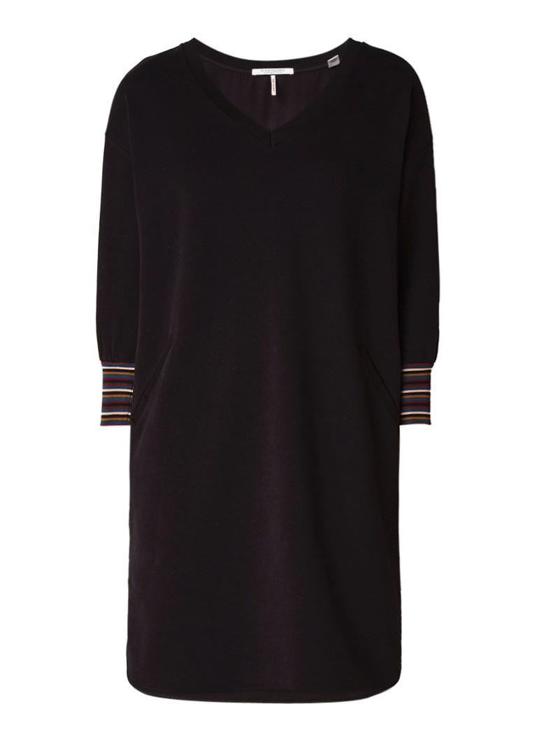 Scotch & Soda Sweaterjurk met gestreepte boord zwart