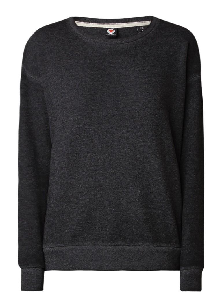 Maison Scotch Gemêleerde sweater in katoenblend