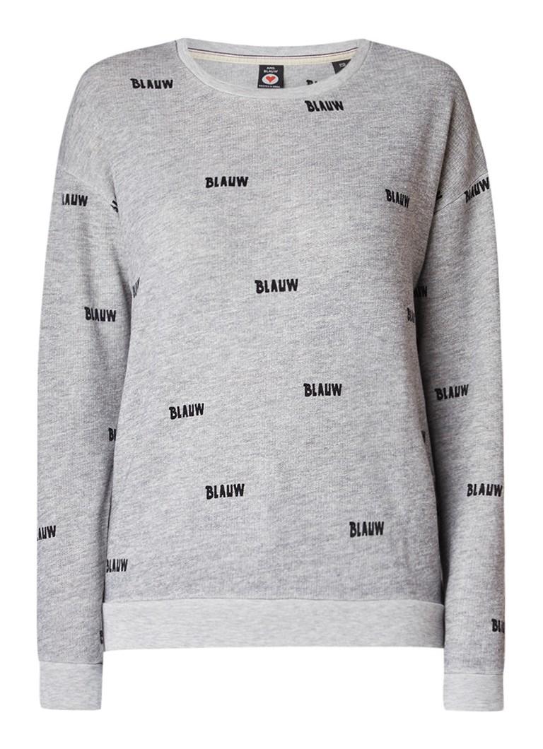 Maison Scotch Gemêleerde sweater met dessin