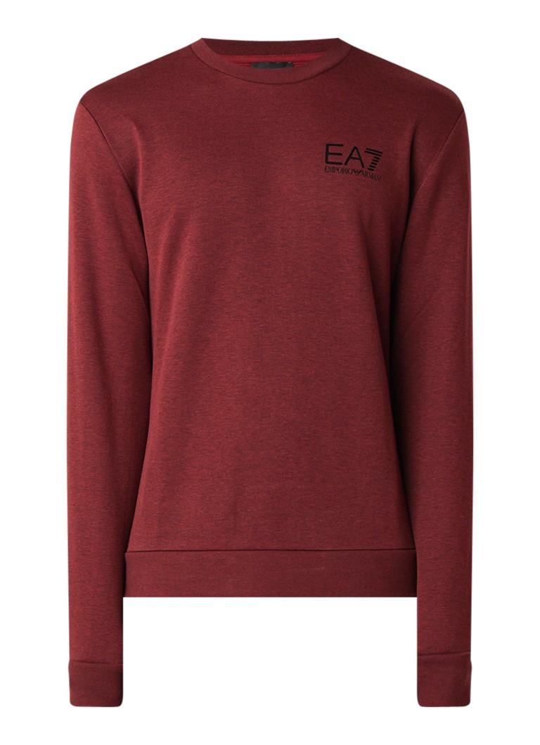 Armani Core ID sweater met gemeleerd dessin