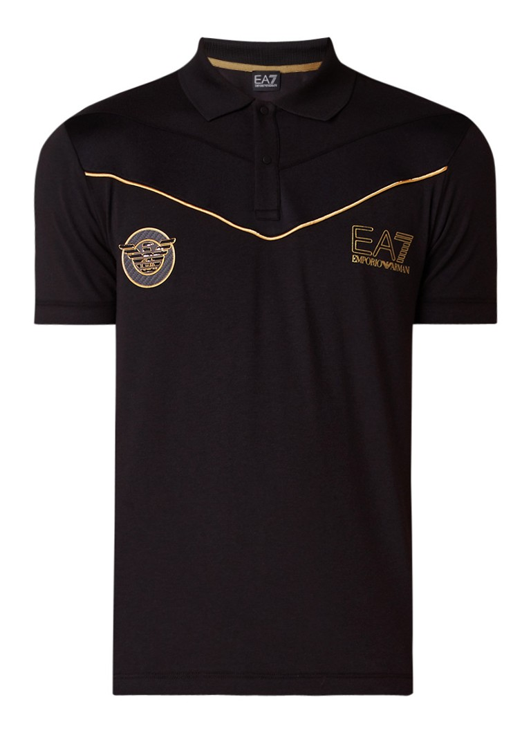 Armani Slim fit polo met metallic logoprint