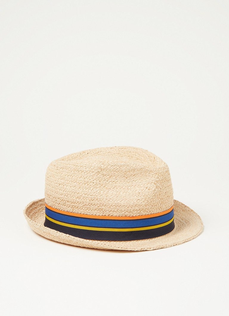 Stetson Cantalo Trillby hoed van raffia met UV-bescherming