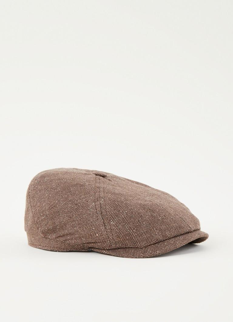Stetson Hayton flat cap in zijdeblend