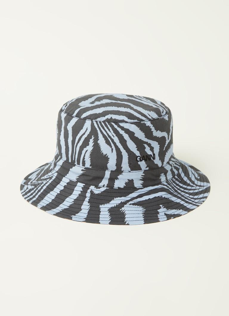 Ganni Bucket hoed met zebraprint