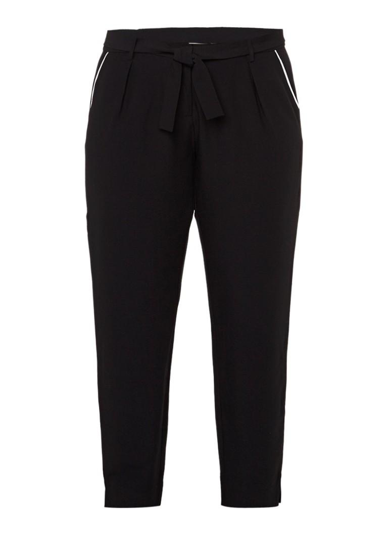 Junarose Nest pantalon met strikdetail zwart