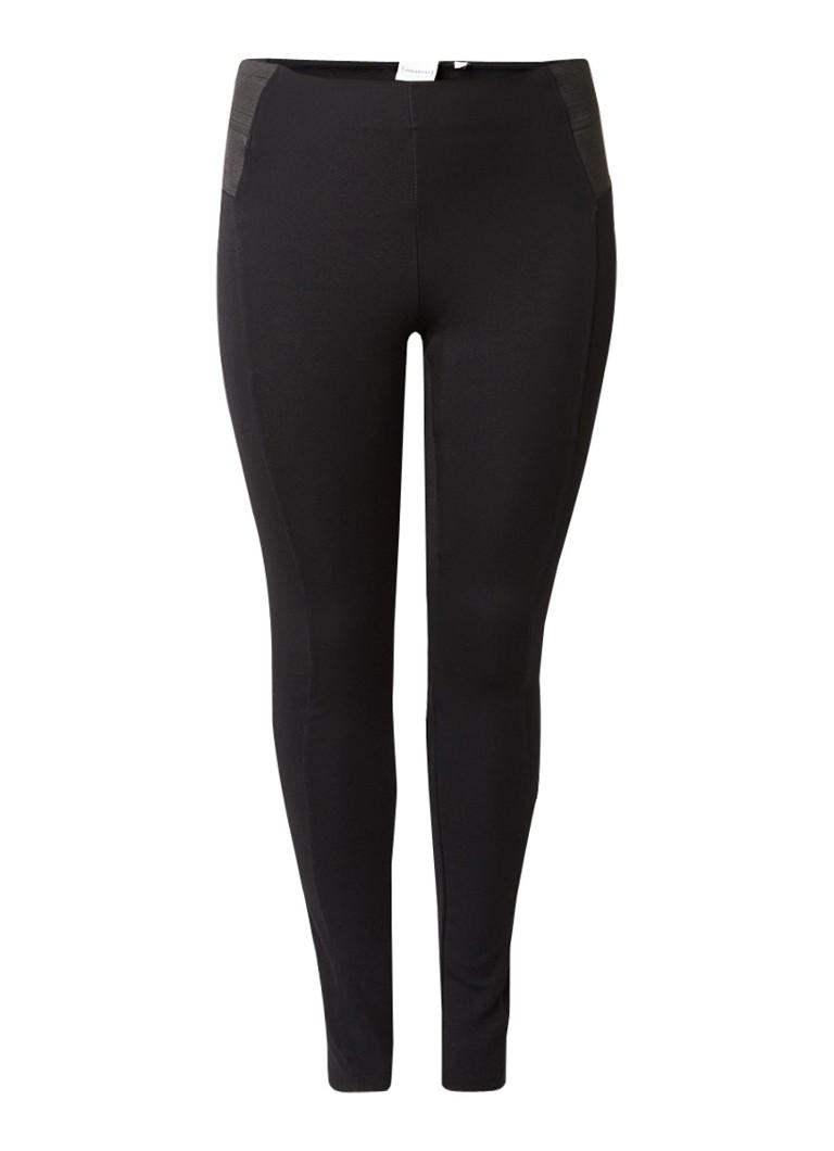 Junarose Raz fitted legging met elastische inzet zwart