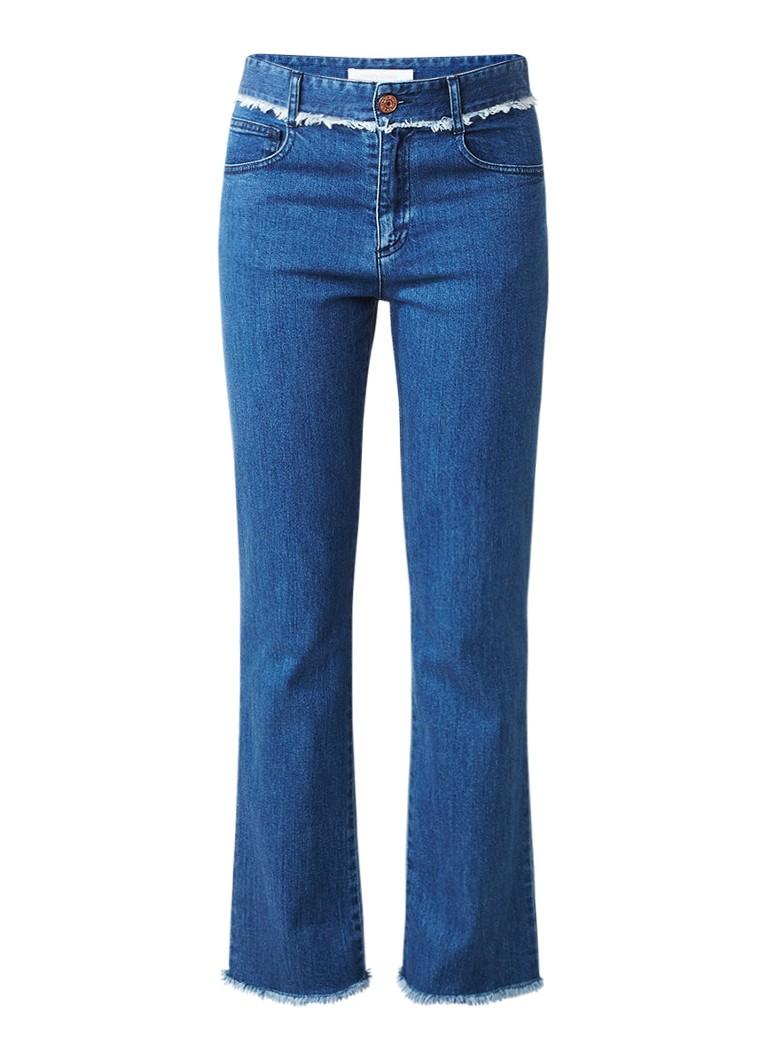 See By Chloé Mid rise straight fit jeans met gerafelde zoom