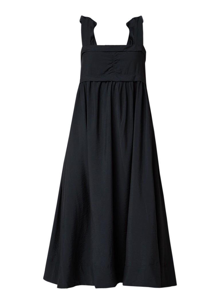 See By Chloé A-lijn jurk in linnenblend met strikdetail zwart