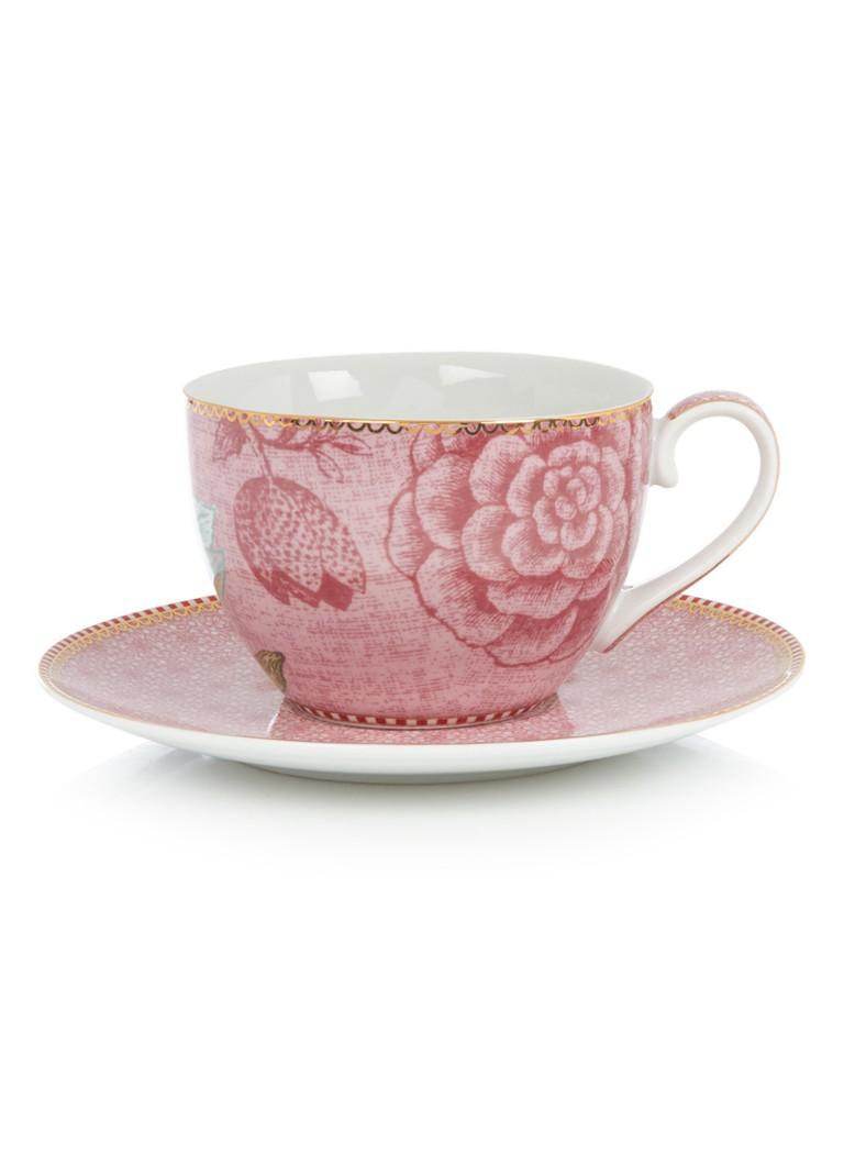 Pip Studio Floral cappuccino kop en schotel set van 2
