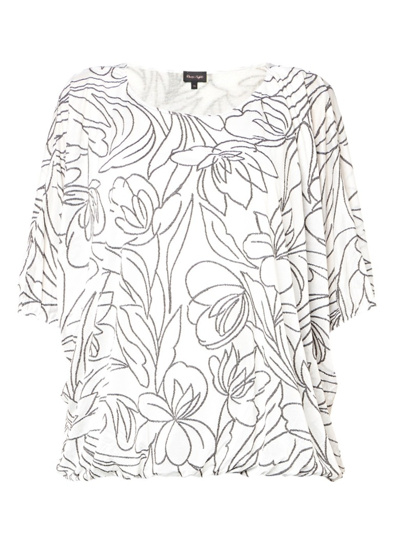 Phase Eight Cecily top met jacquard bloemen wit