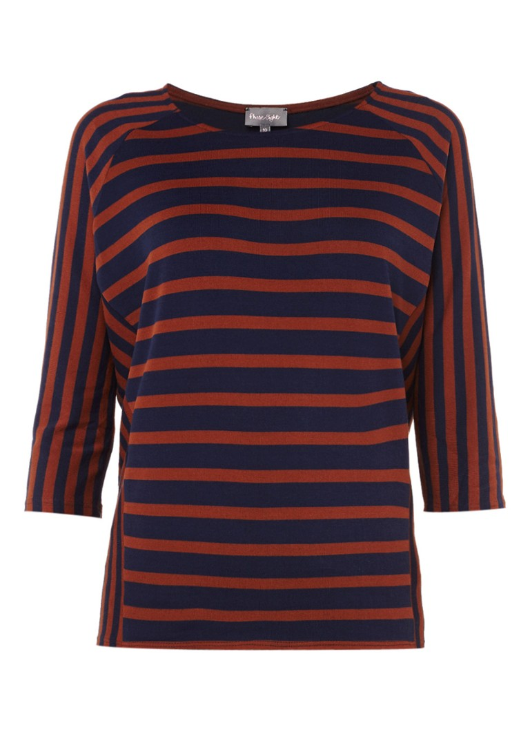 Phase Eight Carris top met streepdessin wit