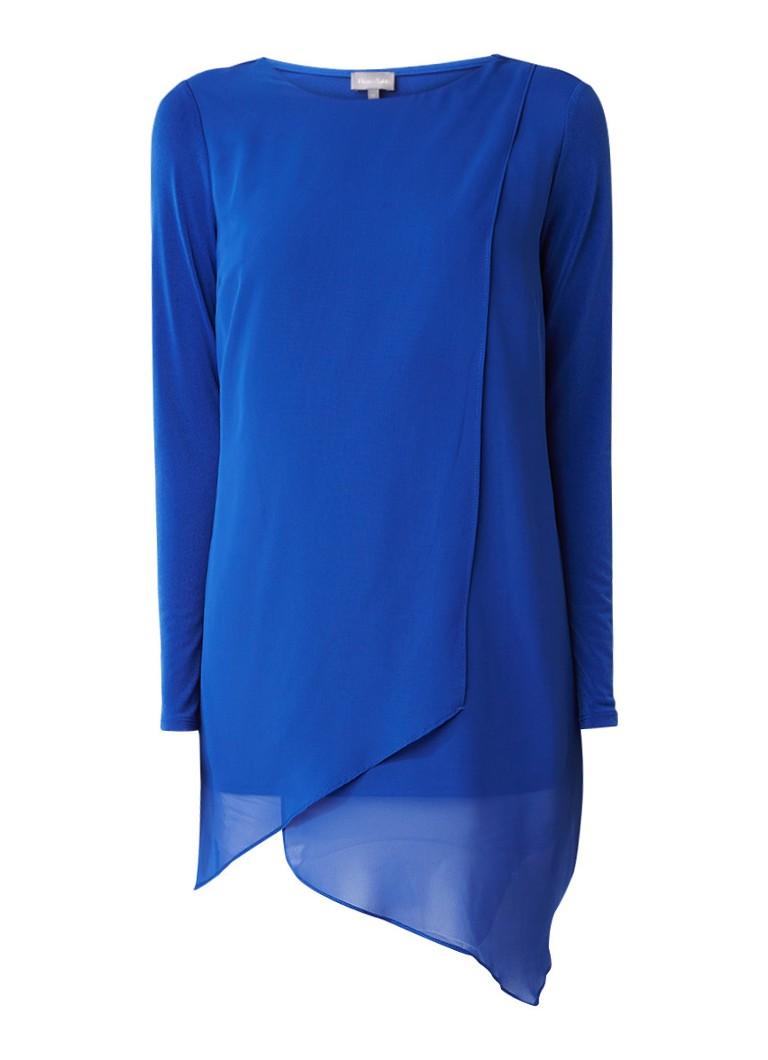 Phase Eight Vinny jersey jurk met semi-transparante overlay