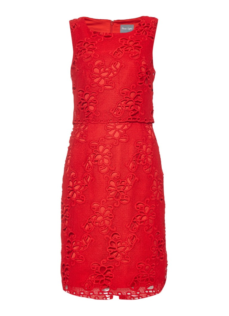 Phase Eight Rebecca jurk met overlay van kant
