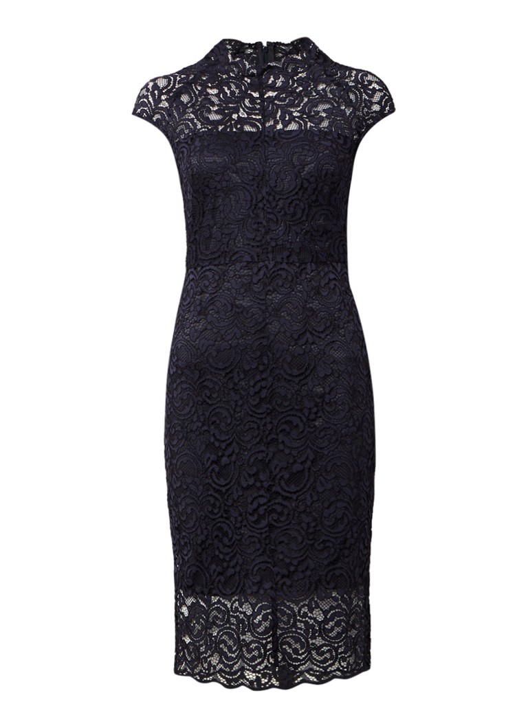 Phase Eight Becky jurk van kant donkerblauw